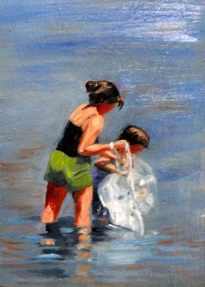 """Teach A Child To Fish"" original fine art by Cietha Wilson"