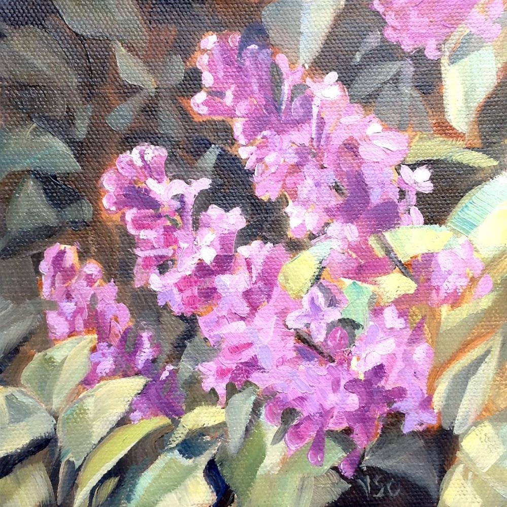 """Lilacs"" original fine art by Valerie Orlemann"