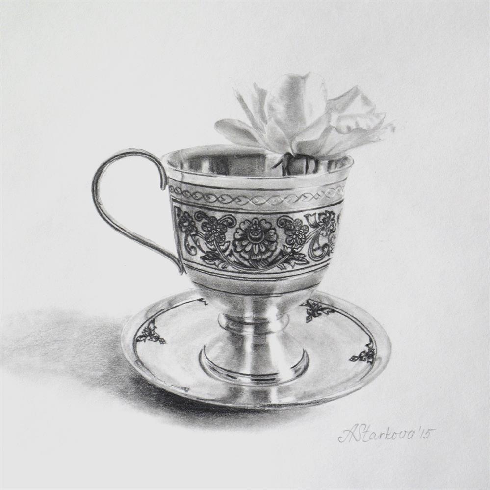 """Tea rose II"" original fine art by Anna Starkova"