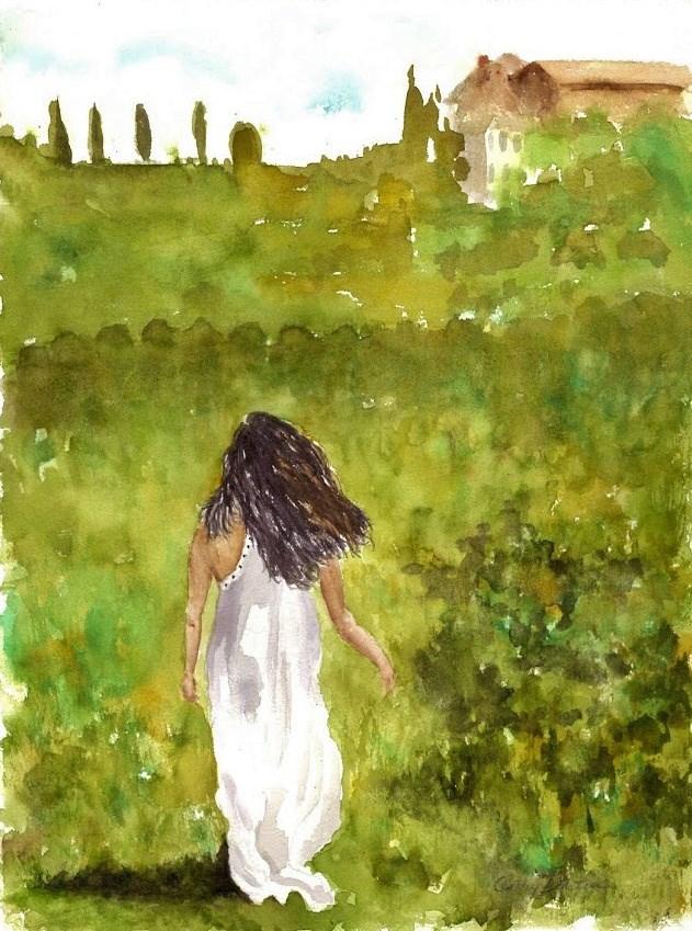 """Fanny"" original fine art by Cathy Dykstra"