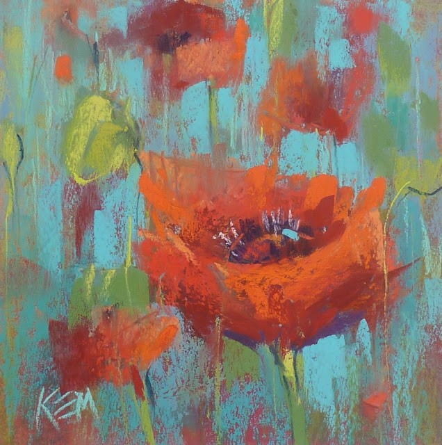 """""""A Few Tips for Painting Poppies"""" original fine art by Karen Margulis"""