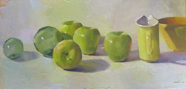 """Golden Delicious"" original fine art by Sarah Sedwick"