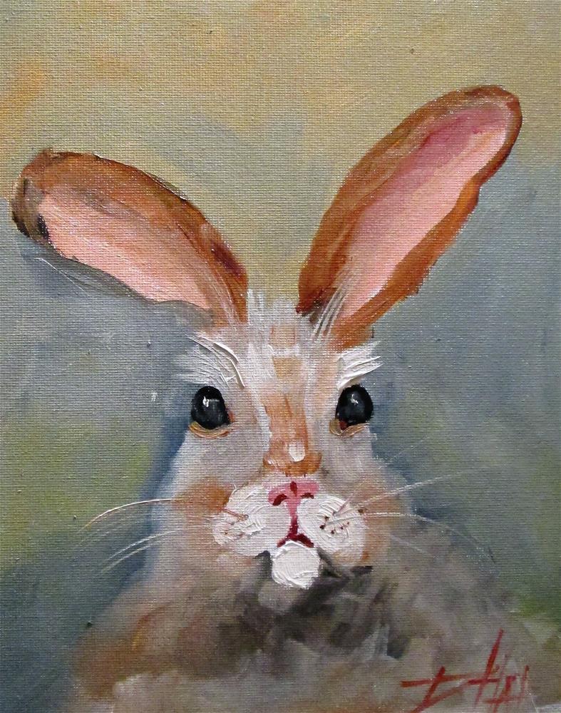 """Rabbit No. 3"" original fine art by Delilah Smith"