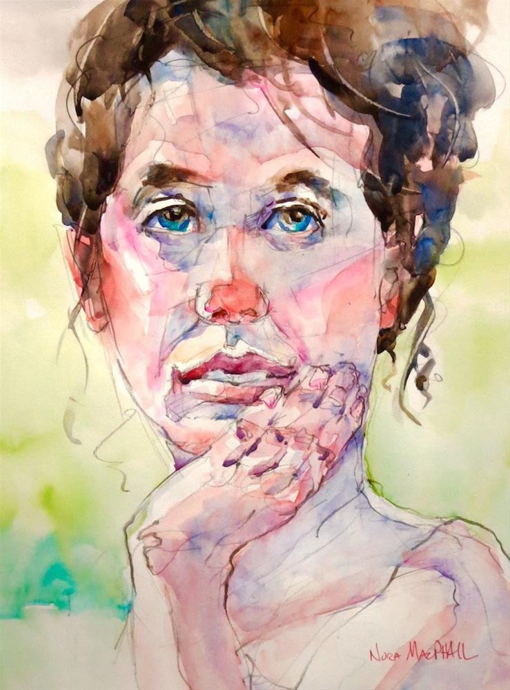 """in thought"" original fine art by Nora MacPhail"