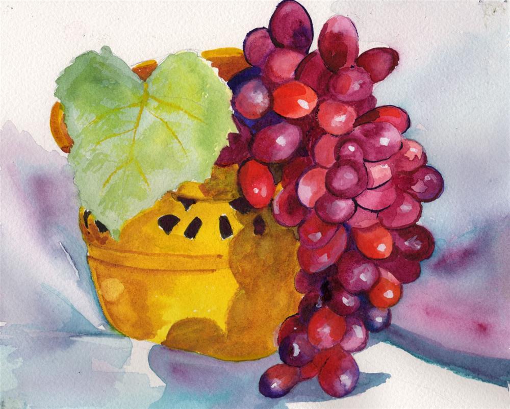 """Grapes Still Life"" original fine art by Bunny Griffeth"