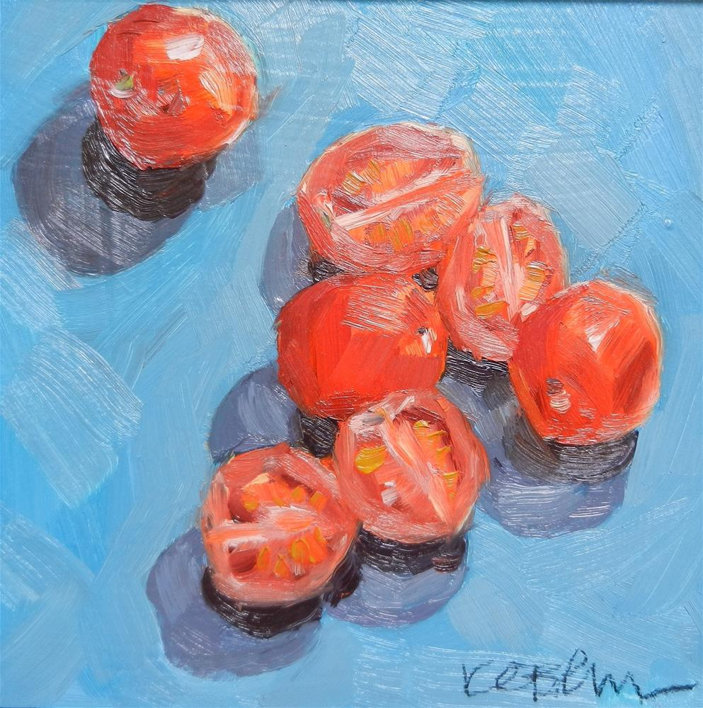 """Cherry tomatoes"" original fine art by Kathy Broyles"