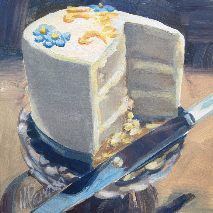 """Cut The Cake"" original fine art by Mary Pargas"