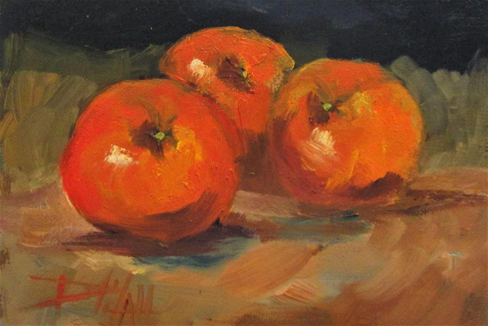 """Orange Still Life"" original fine art by Delilah Smith"