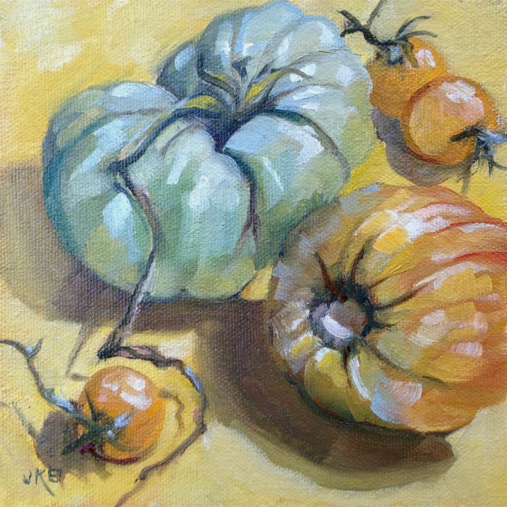 """These & Those"" original fine art by Jeanne Bruneau"