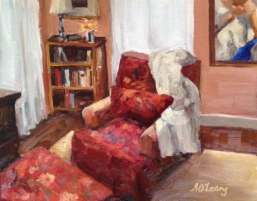 """Reading Corner"" original fine art by Alice O'Leary"