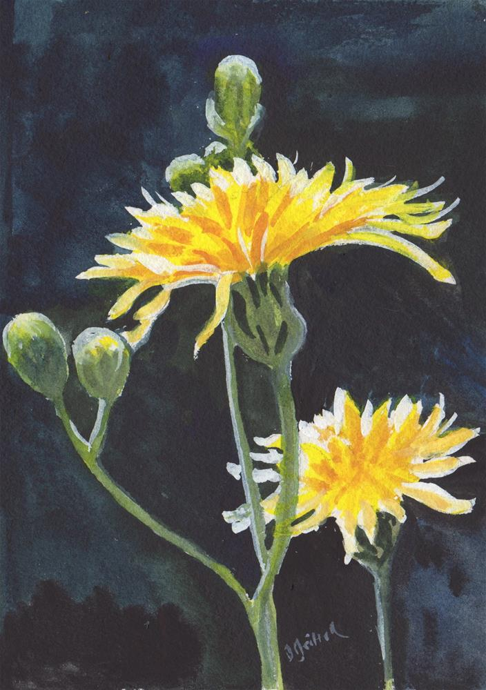 """""""Yellow Flowers"""" original fine art by Bunny Griffeth"""