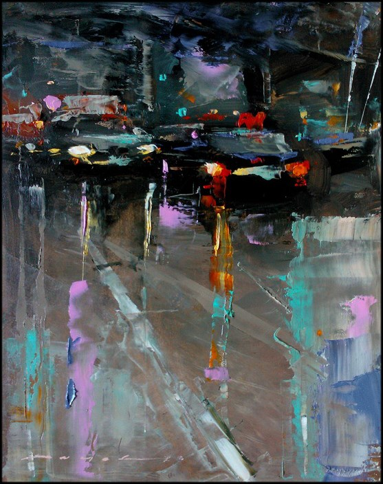 """City Traffic_008"" original fine art by Angel Angelov"