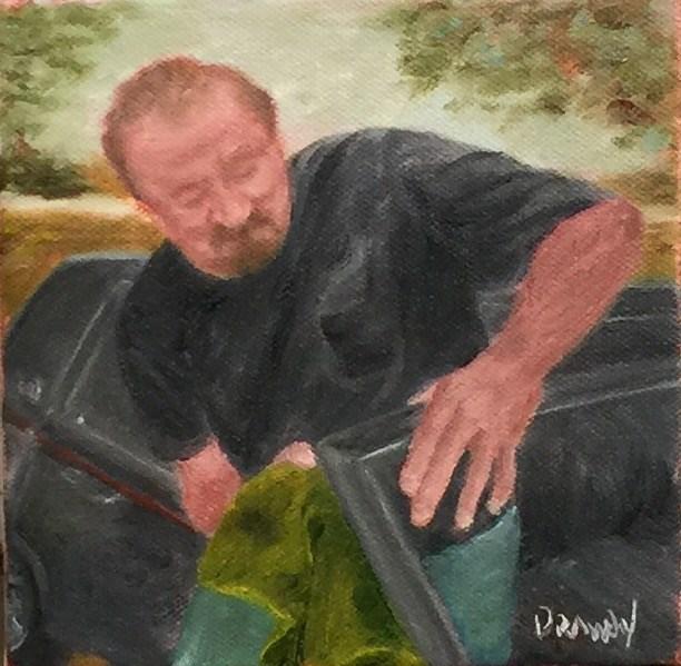 """""""Detailing"""" original fine art by Stephanie Drawdy"""