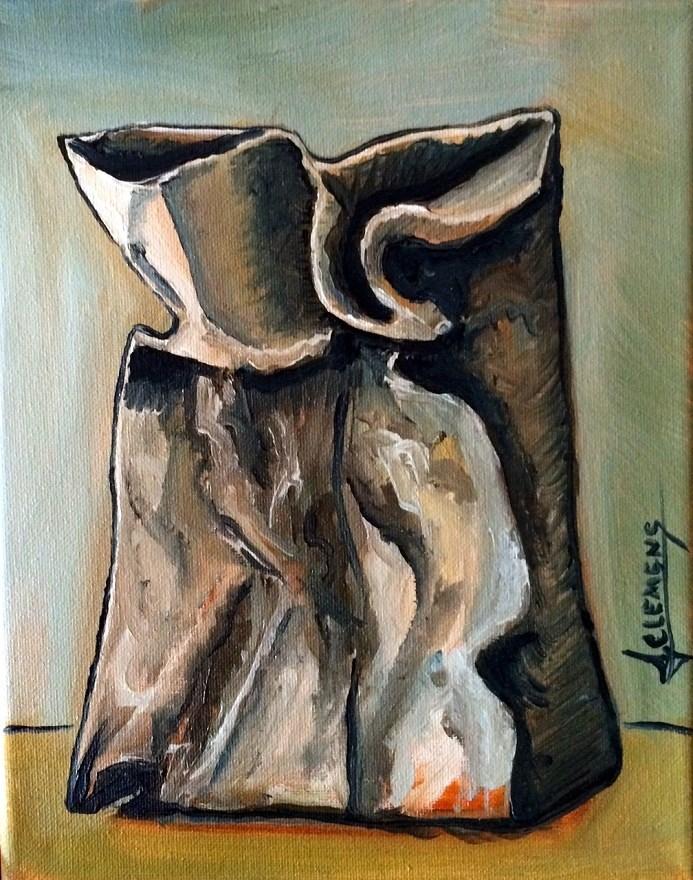 """""""paper bag"""" original fine art by Jolynn Clemens"""