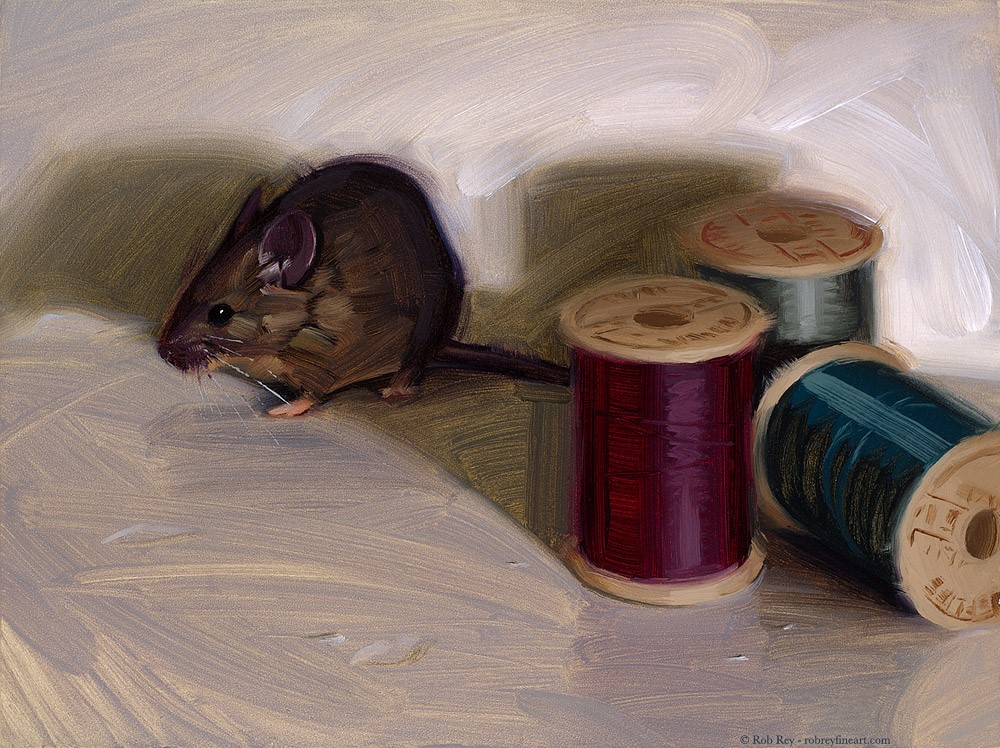"""""""House Mouse"""" original fine art by Rob  Rey"""