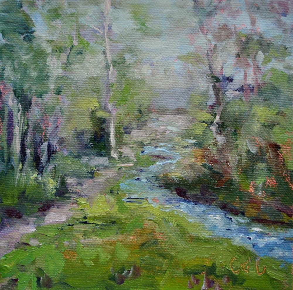 """Logan Canyon Paso Ride"" original fine art by Catherine Crookston"