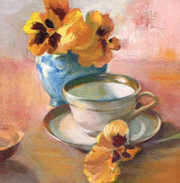 """""""Delicate Manners - Theresa Taylor Bayer"""" original fine art by Theresa Taylor Bayer"""