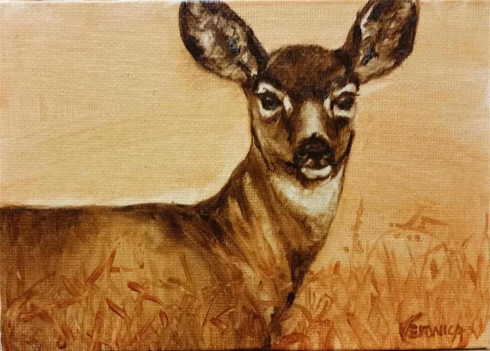 """Mule Deer"" original fine art by Veronica Brown"