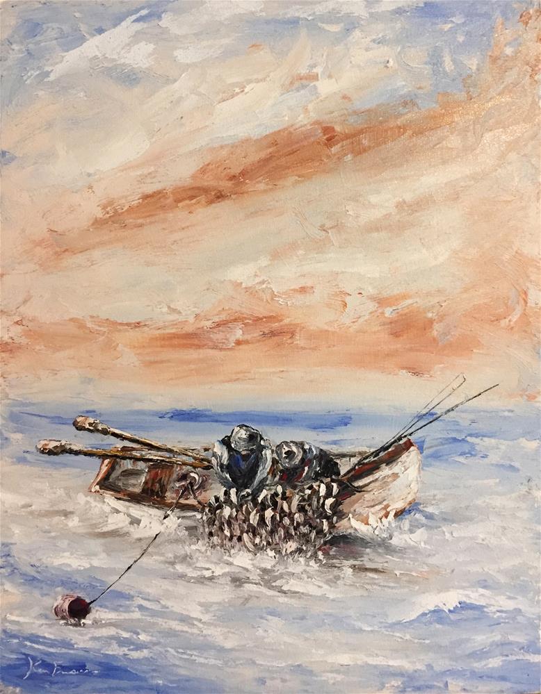 """""""Full Net"""" original fine art by Ken Fraser"""