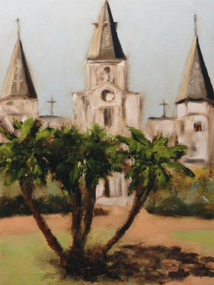 """""""Fat Tuesday New Orleans Saint Louis Cathedral"""" original fine art by Dalan Wells"""