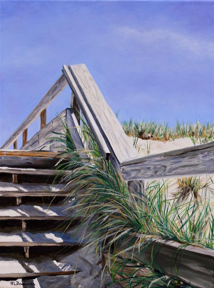 """""""Bay Head Steps II"""" original fine art by Heather Douglas"""