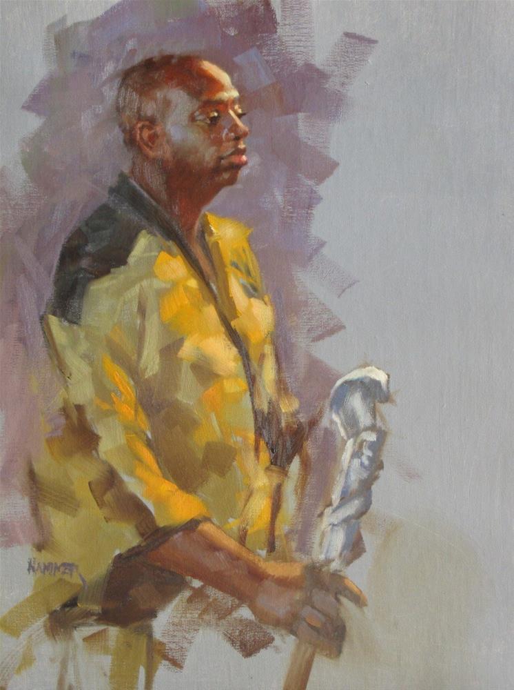 """Lavaski in Yellow 14 x 11  oil"" original fine art by Claudia Hammer"