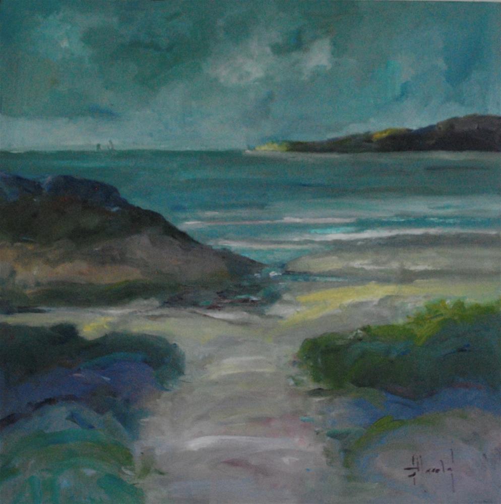 """Day At The Beach 2"" original fine art by Deborah Harold"