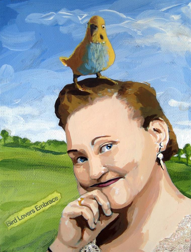 """Little Bird Told Me"" original fine art by Linda Apple"