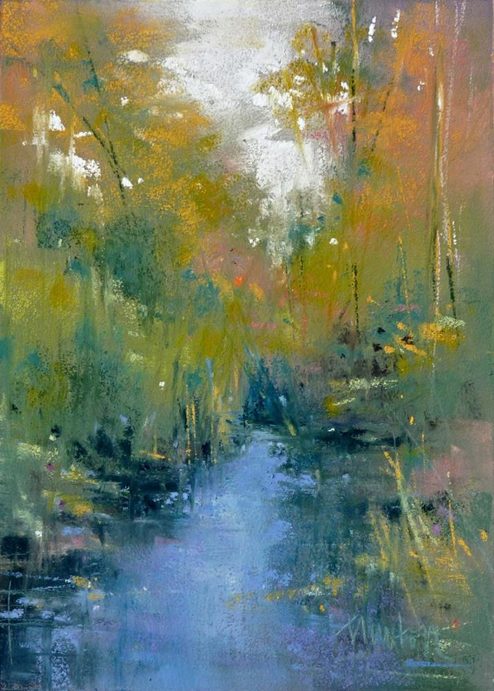 """Hidden Creek #1"" original fine art by Barbara Benedetti Newton"