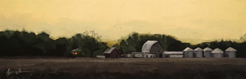 """""""Lincoln Highway/Dusk, Western Iowa"""" original fine art by Karin Jurick"""