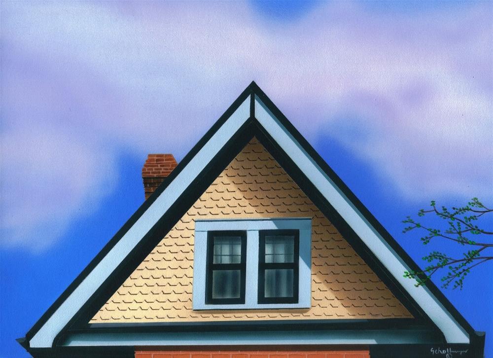 """House on Market Street (Second Floor)"" original fine art by Fred Schollmeyer"