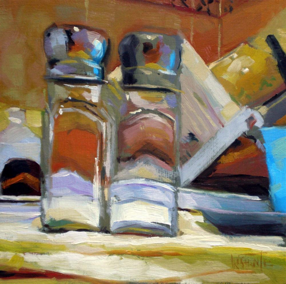 """""""Twins in the kitchen"""" original fine art by Víctor Tristante"""