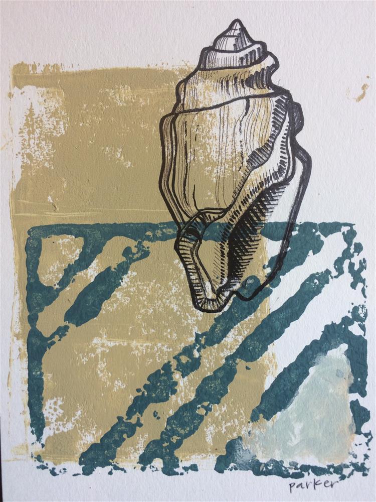"""Nautical Shell Print"" original fine art by Teddi Parker"