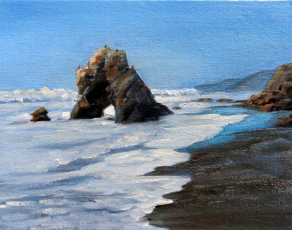 """Needle Rock, Lost Coast"" original fine art by Cietha Wilson"