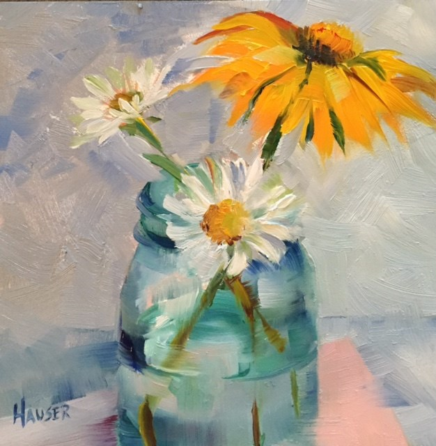 """""""A Not So Pink Coneflower"""" original fine art by Alice Hauser"""