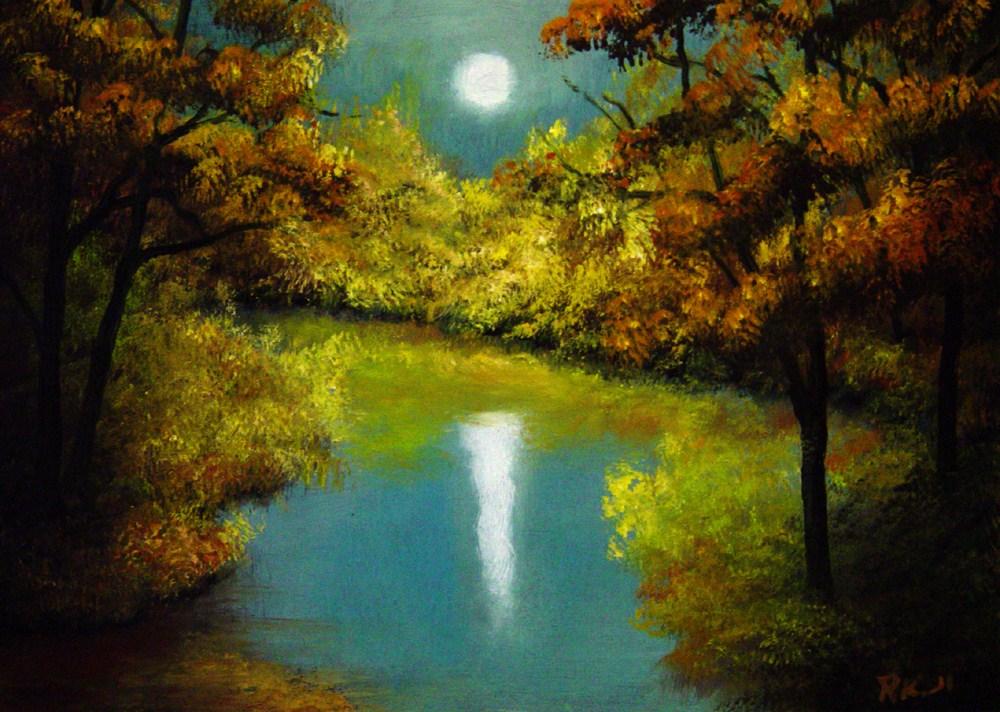 """Moody Reflection"" original fine art by Bob Kimball"