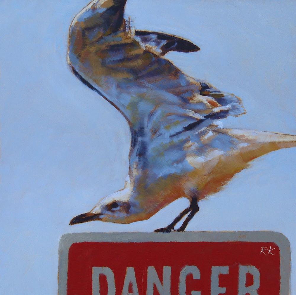 """Dangerous Gull"" original fine art by Rita Kirkman"