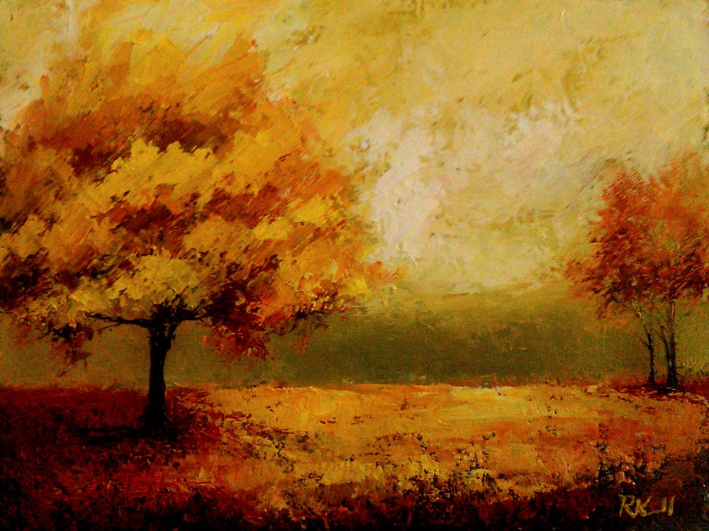 """""""Autumn in the Park"""" original fine art by Bob Kimball"""
