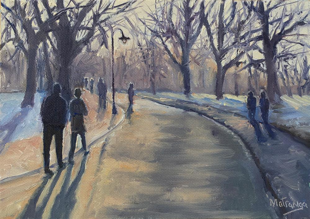"""""""Winter Concert"""" original fine art by Patricia Matranga"""