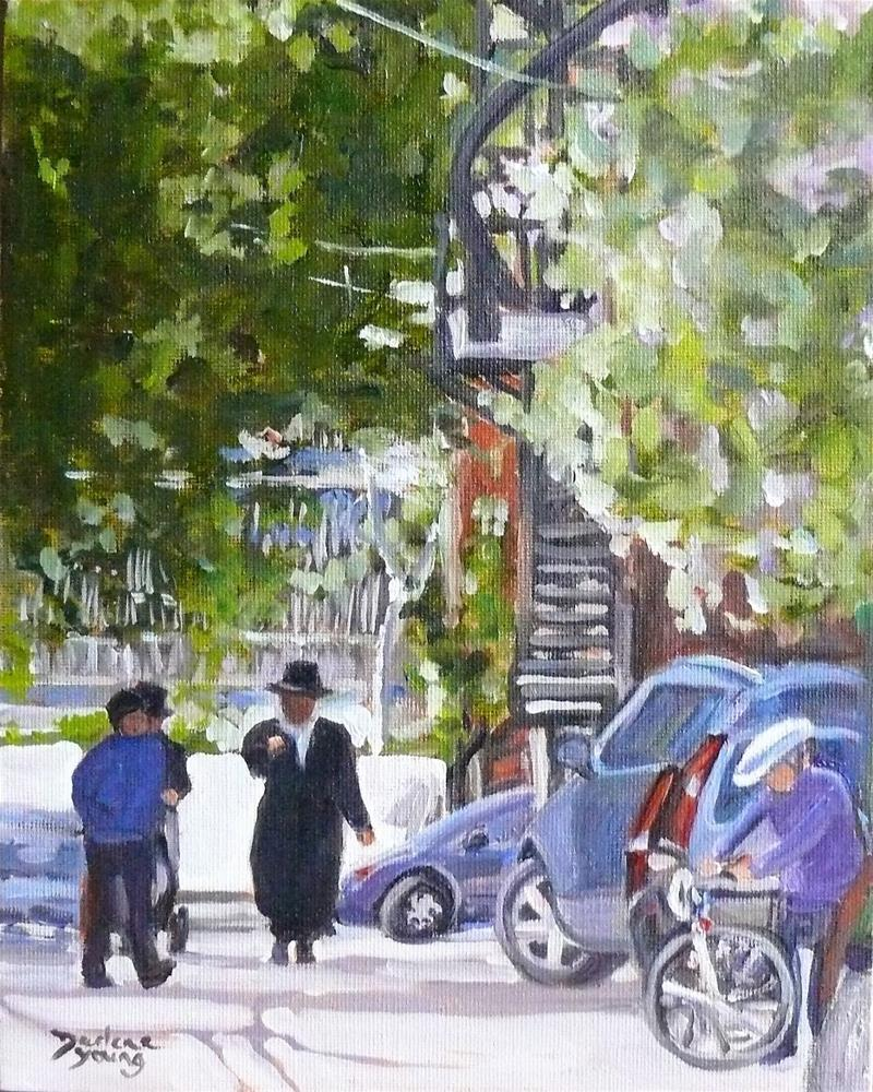 """""""967 Outremont, 8x10, oil on board"""" original fine art by Darlene Young"""