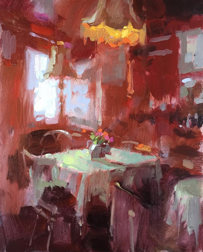 """Dottys tearoom"" original fine art by Haidee-Jo Summers ROI"
