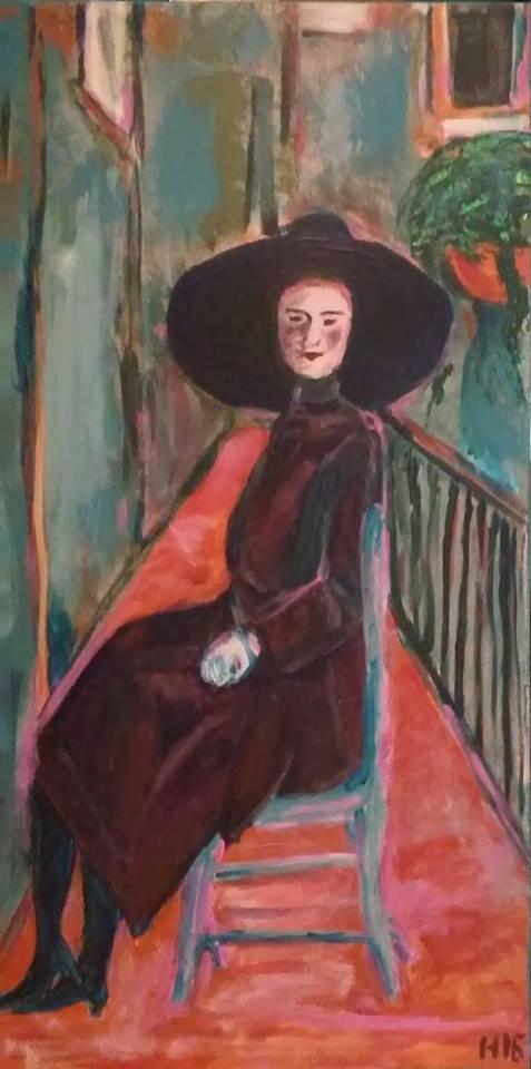 """""""1911"""" original fine art by Hallie Dozier"""