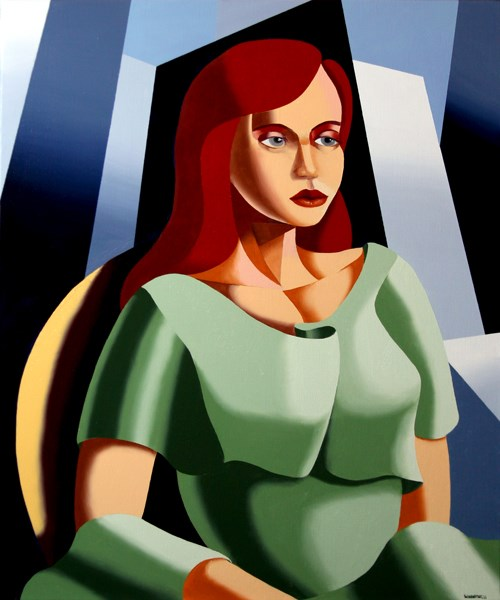 """""""Mark Webster - Art Deco Portrait Oil and Acrylic Painting"""" original fine art by Mark Webster"""