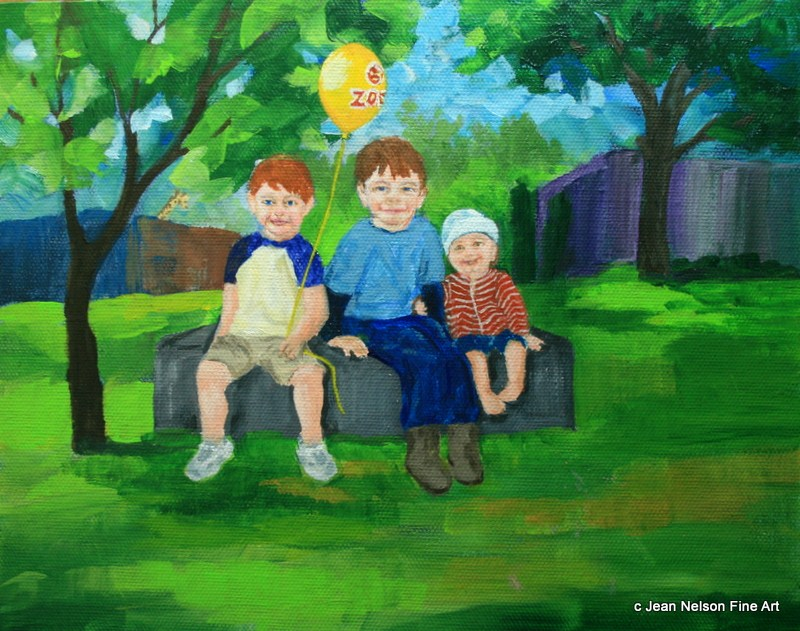 """""""Brothers"""" original fine art by Jean Nelson"""