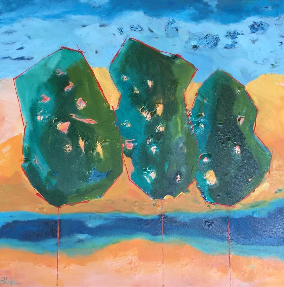 """""""Three Amigos"""" original fine art by Janet Bludau"""
