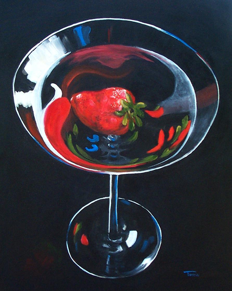 """Strawberry Martini"" original fine art by Torrie Smiley"