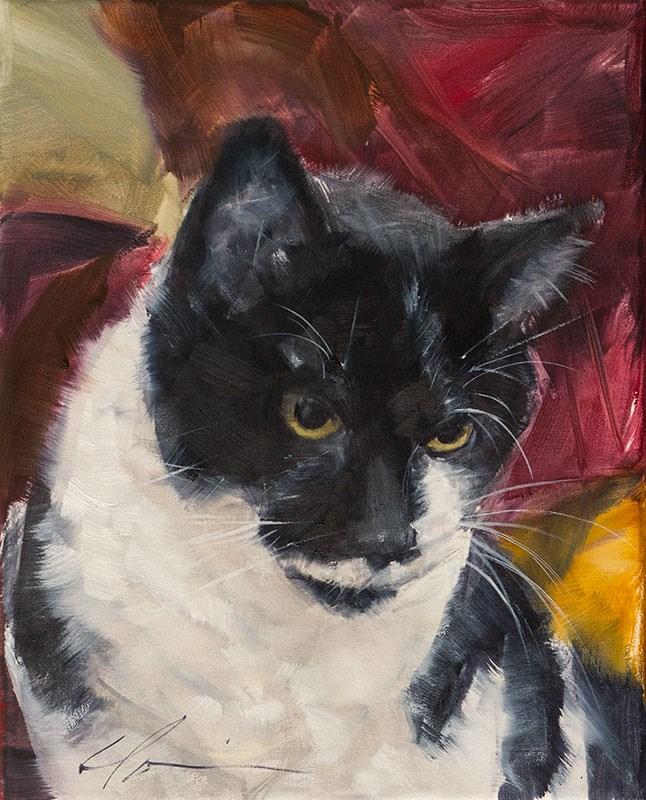 """""""Sweet Gus"""" original fine art by Clair Hartmann"""