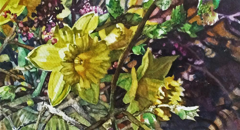 """a Between Branches"" original fine art by Nicoletta Baumeister"