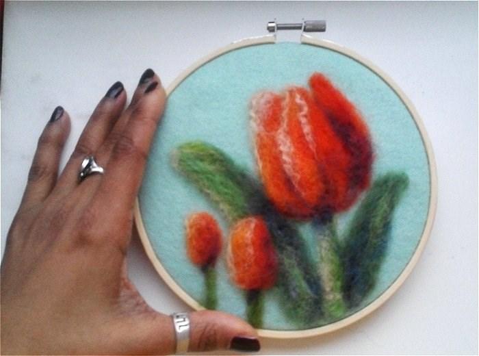 """Orange Tulips"" original fine art by Camille Morgan"