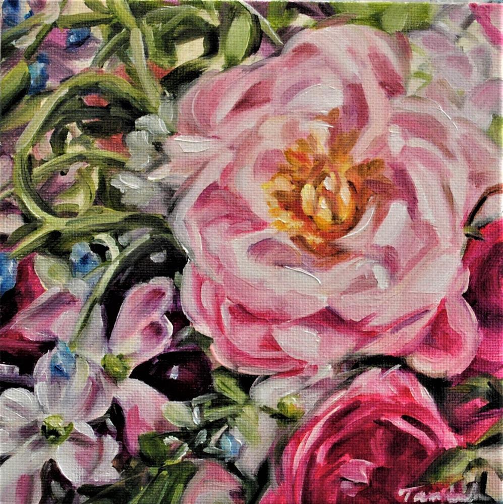 """Floral 099"" original fine art by Tamanda Elia"